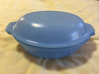Vintage Agee Pyrex Blue Casserole Dish With Lid Vgc