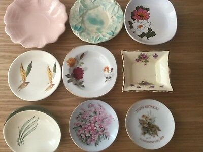 9 vintage Pin / Jam dishes