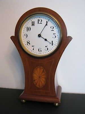 French Inlaid Edwardian 8 Day Balloon Clock Made in Paris