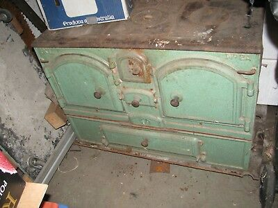 Antique Cast Iron Double Oven IXL Woodstove