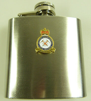 RAF Royal Air Force Mountain Rescue Badged Hip Flask