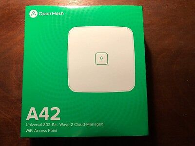 Open-Mesh 2.4/5GHz 2x2 MIMO Access Point (A42) Includes PoE Injector