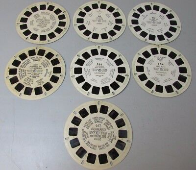 Lot of 7 View Master reel reels  30 64 66 506 561 564 642