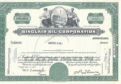 Sinclair Oil Corporation 5.4.1968, Chicago 5 Shares No. CH0116871, Campbell & Co