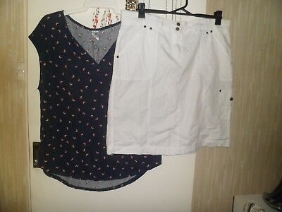 Size 16 Now Top..bnwt  + Suzannegrae Skirt