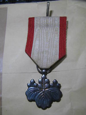 Imperial Japanese army's 8th class Rising Sun silver medal