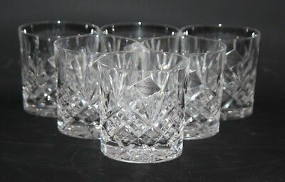 "Edinburgh Crystal Continental - Set of 6 x 3 1/4"" Whisky Glasses / Tumblers -vgc"