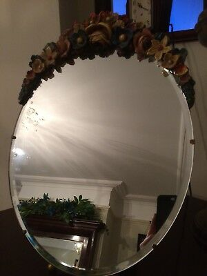 Vintage Barbola Mirror Large Easel Type Excellent Condition Art Deco