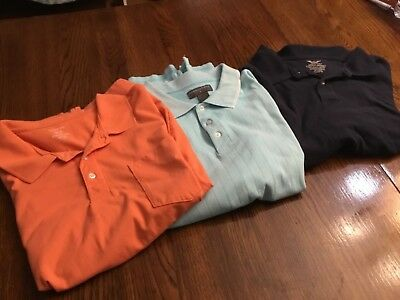 3 Men's XXL George, Saddlebred & Faded Glory Golf Polo Shirts