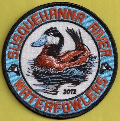 "Pa Pennsylvania Fish Game Commission NEW 2012 SRWA Ruddy Duck 4"" Waterfowl Patch"