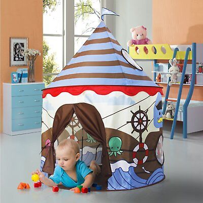 Homfu Play Tent For Kids Castle Playhouse For Children Boys Viking Pattern Popup