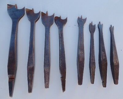 VINTAGE SPUR AUGER BRACE DRILL BITS, Boker, Marples, Small to Large, Carpentry