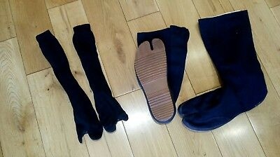 Martial Arts Long Tabi Boots Size 42 and socks