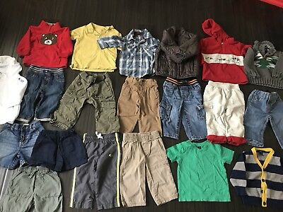 Lot Of Baby Boys Clothes 20 Pieces 12 Month 12-18 Month Summer Fall Winter EUC