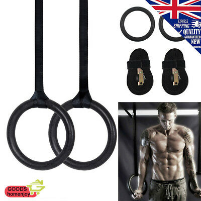 Pro ABS Olympic Gymnastic Rings Gym Training Fitness Exercise Hoop Straps Pairs