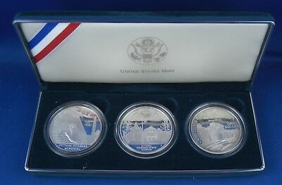 3x 1 Dollar USA Veteran Memorial 3oz Silber