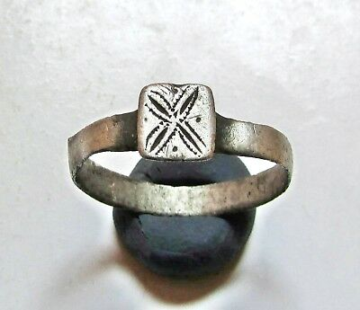 "Ancient Silver Roman Legionary Ring "" Legio X """