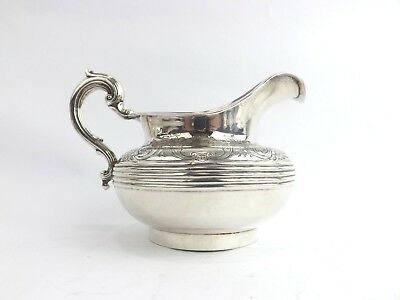 Jug Solid Sterling Silver HEAVY Gold Gilt Duck Bill Handle Savory London 1851