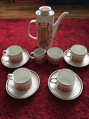Vintage Retro J&g Meakin Studio Y Design Coffey Set