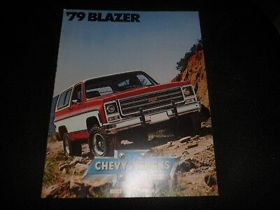 VINTAGE 1979 CHEVY TRUCKS  DEALER SALES BROCHURE ORIGINAL  7 pages