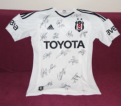 BESIKTAS-2018-TEAM-SHIRT SIGNED by All The Players Geninue SIGNED