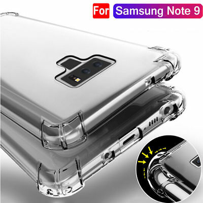 For Samsung Galaxy Note 9 Shockproof Bumper Soft Silicone TPU Clear Case Cover