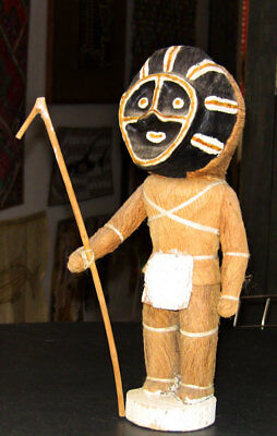 Summer Sale*Indigenous Amazonian bark figure with mask was $199 now $125