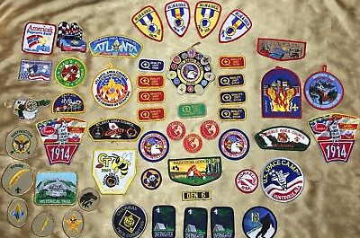 Lot of 52 Mix Vintage Camp / Jacket Boy Scout Patches BSA Boy Scouts of America