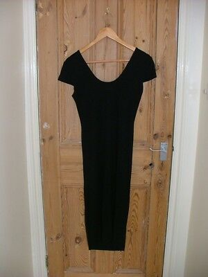Black stretchy short-sleeved maternity dress by asos, size 10