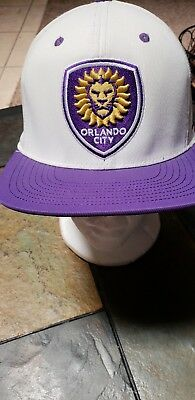 pretty nice 7c165 41e37 Orlando City Soccer Adidas VI83Z MLS Launch Soccer Team Snapback Cap Hat  Purple