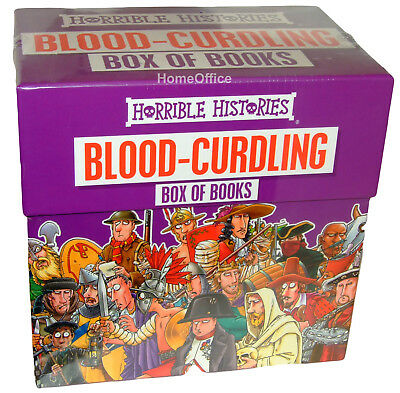 Horrible Histories 20 Book Collection Childrens Box Set Books Blood Curdling
