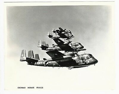 4 Grumman Mohawk Army Aircraft Formation Original Photo 8 X 10 #64418