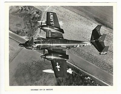 Grumman Ov-1B Mohawk Army Aircraft Original Photo 8 X 10