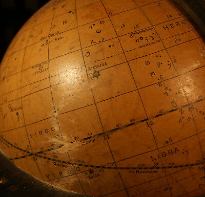 Vintage celestial globe: Duncan's eight inch, mfg Eastern Science Supply Co.