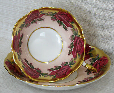Paragon Cup & Saucer Set – Red Roses With Heavy Gold Colored Trim – England Regd