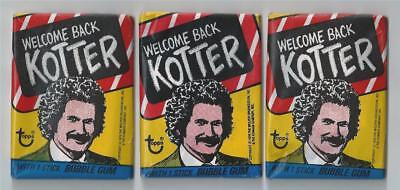 3 Welcome Back Kotter Topps Unopened Sealed Wax Packs Pack from 1976