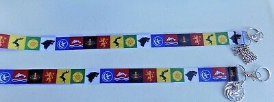 """Game Of Thrones 18"""" lanyard with Choice of Charm"""