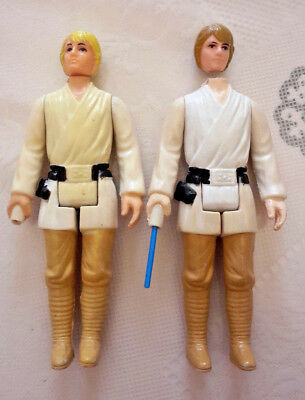 Star Wars - Firma Kenner - Luke Skywalker - 1xChina + 1xHong Kong - 1977