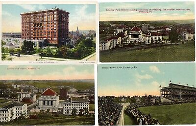"(8) Different Pittsburgh Pirates Forbes Field ""Where's Waldo"" Stadium Postcards"