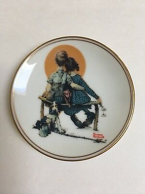 "Norman Rockwell's ""Sunset"" Mini 3"" Collector Plate Limited edition"
