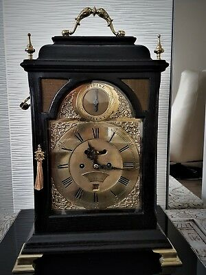 London English Twin Fusee W&H Bell Top Striking Bracket Clock