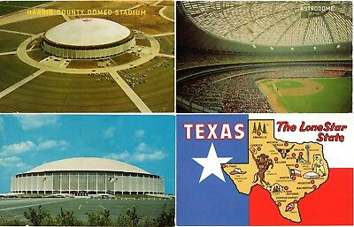 (8) Houston Astros Astrodome w/Colt Stadium Postcards, Great Assortment