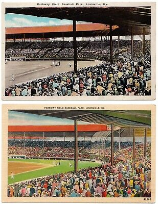 (2) American Association Louisville Colonels Parkway Field Stadium Postcards