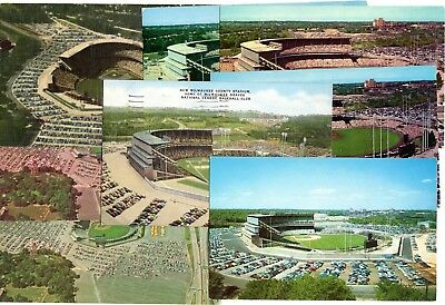 (8) Harder to Find Milwaukee Braves County Stadium Postcards