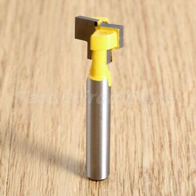 T-Slot 1/4 Inch Shank Woodworking Router Bit Tongue & Groove Milling Cutter Tool