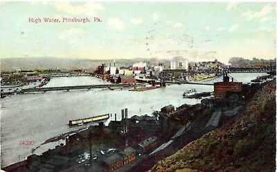 Rare 1908 Pittsburgh Pirates Exposition Park Baseball Stadium Postcard #2