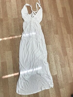 Ladies Asos Maternity White Sun Dress Size 10 Maxi Dress Brand New With Tags