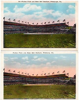 (2) Variations Pittsburgh Pirates Forbes Field Baseball Stadium Postcards #2
