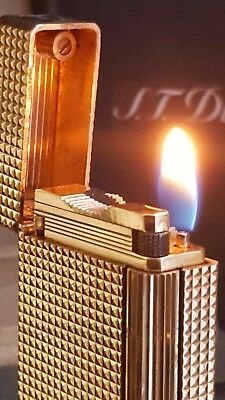 ST DuPont Lighter Gold 20u Line 1 Large Function Warranty Box Papers Parfect H12