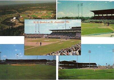 (5) Different Florida Cactus League Baseball Spring Training Stadium Postcards